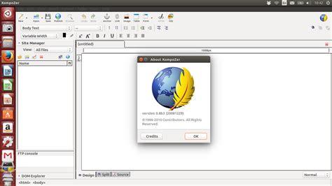 cara install kompozer di ubuntu 14 04 joherujo