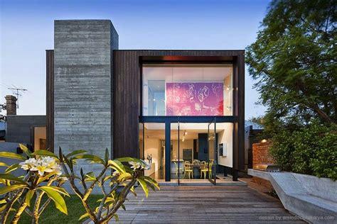 desain rumah kotak  futuristik