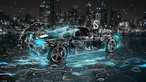 Top 10 Car Wallpaper 2017 Portrait by Water Drops Splash Beautiful Car Creative Design