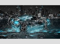 Water drops splash, beautiful car creative design