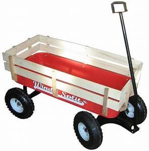 Chariot Buches Bois Roulettes : chariot rouge roulettes wind split avec ridelles bois et ~ Dailycaller-alerts.com Idées de Décoration