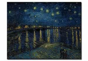 Quadro famoso La notte stellata sul Rodano Vincent van Gogh Quadri famosi