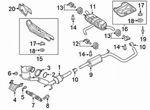 2018 Volkswagen Tiguan Bracket  Converter  And  Pipe  Exhaust  Liter  Code  Engine