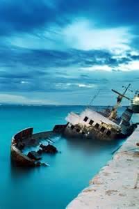 Old Port Fira Santorini Greece