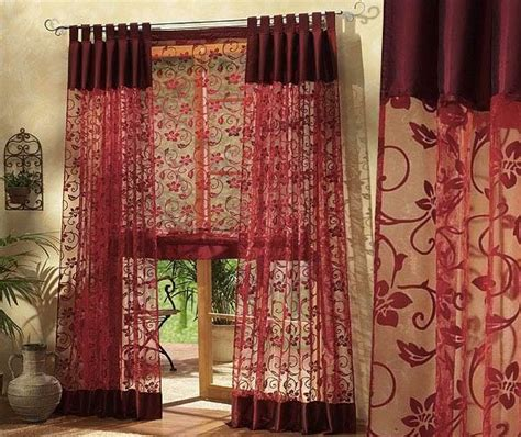 burgundy curtains best curtains design 2016