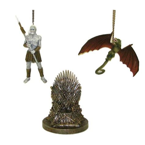 game of thrones 4 1 4 inch figural ornament set