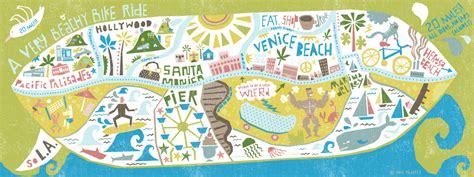 draw maps venice beach bike map   draw travel