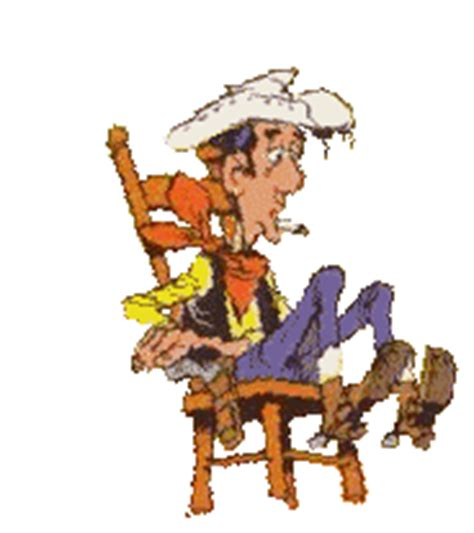 chaise qui se balance gifs animées de lucky luke