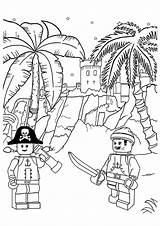 Coloring Flag Pirate Pages Lego Pirates Ninjago Caribbean Momjunction sketch template