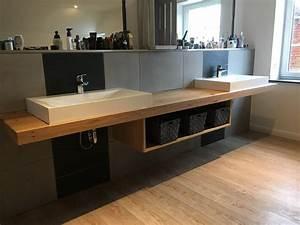 Aufsatzwaschbecken Mit Platte : waschtischplatte waschtisch eiche massivholz holz ~ Michelbontemps.com Haus und Dekorationen