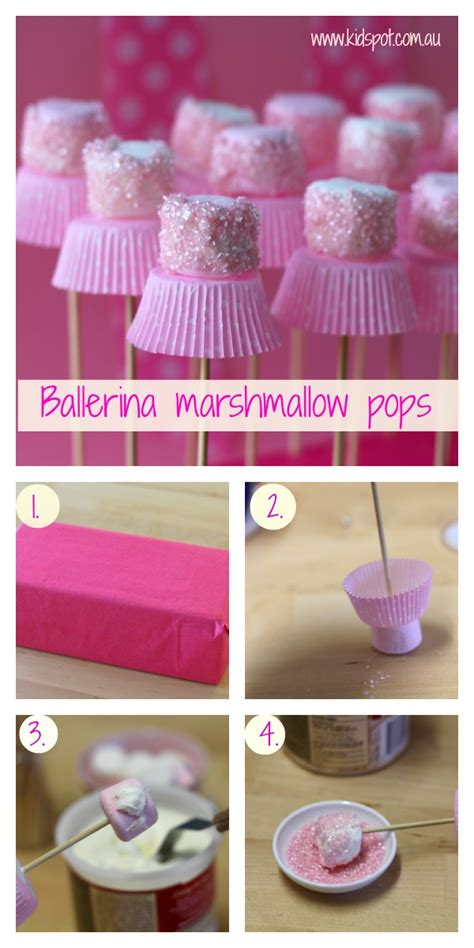 wonderful diy cute marshmallow ballerinas
