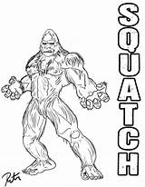 Bigfoot Coloring Pages Finding Drawing Sasquatch Squatch Deviantart Rictor Riolo Colouring Print Lineart Template Footprints Library Clipart Templates Stencils Camping sketch template