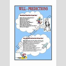 Will  Predictions  Speaking  Esl Worksheet By Denfer