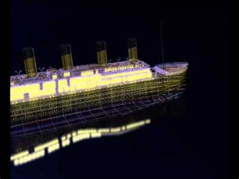 titanic sinking animation 3d titanic construction and sinking 3d animation