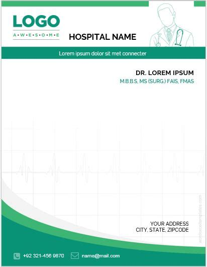 doctor letterhead templates  ms word word excel