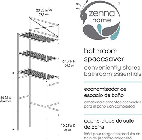 3 shelf over the toilet bathroom space saver organizer