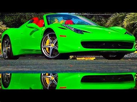 metrowrapz ferrari  spider  lime green youtube