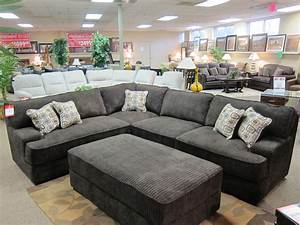 100 rooms to go black leather sectional living room for Sectional sofa bed rooms to go