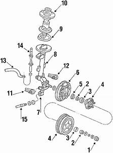 Ford Taurus Hub And Drum  Hub Assembly  Mount Cup  Sedan