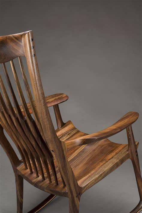 classic maloof style rocking chair  scott morrison fine