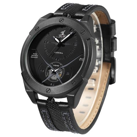 Jam Tangan Guess Kulit Black weide jam tangan kulit analog pria uv1703 black black