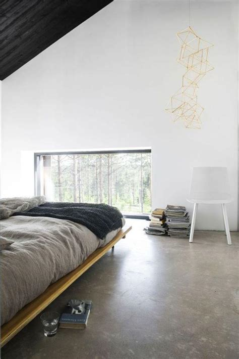 modern bedroom flooring concrete floor in 18 bold and contemporary bedroom designs 12481