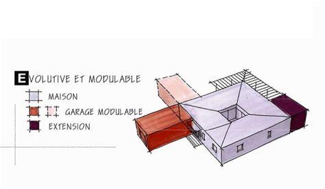 facade bois cuisine maison ossature bois de plain pied 127 m 3 chambres