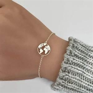 Geschenke Für Weltenbummler : weltkarte silberarmband perfektes geschenk f r den weltenbummler die welt karte armband ist ~ Orissabook.com Haus und Dekorationen