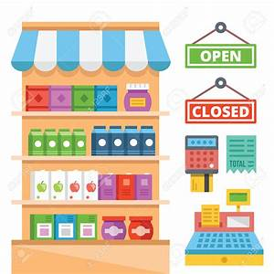 Shelf clipart supermarket shelf - Pencil and in color ...