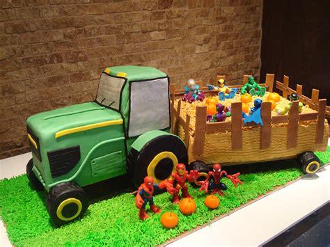 cake tractor hayride fondant pumpkins  decorations