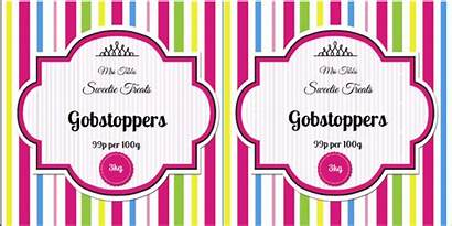 Jar Labels Sweet Label Template Candy Templates