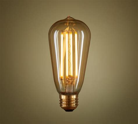 led teardrop filament 40w equivalent light bulb pottery barn