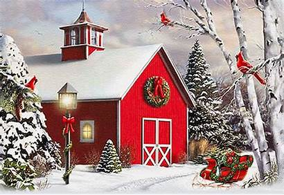 Christmas Merry Winter Scenes Animated Gifs Card