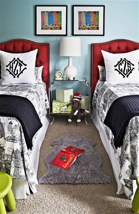 white blue boys bedroom simplified bee
