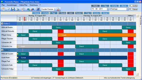 gestaltung von dienstplaenen provendis software