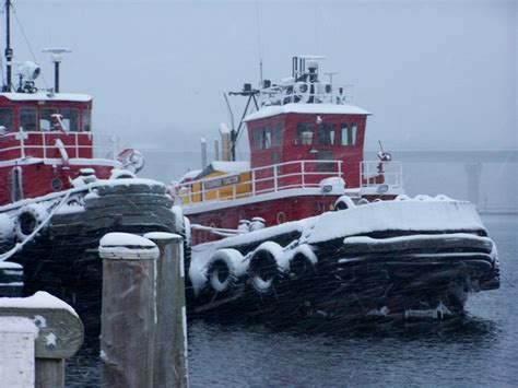 Tugboat Hours by In Belfast Maine Harbor My Own Photography