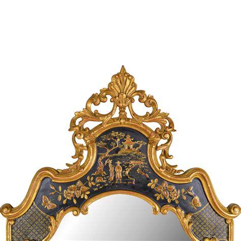 vintage mirror fair chinoiserie mirror  tolw  ruby lane
