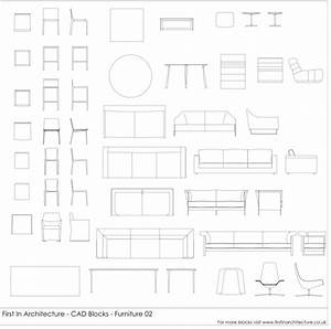 CAD Blocks Furniture Pack 02 First In Architecture