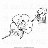 Drunk Coloring Pages Clip Shamrock Getcolorings Printable Vector sketch template