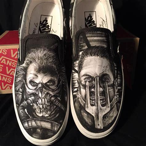 buy hand  hand drawn mad max custom shoes