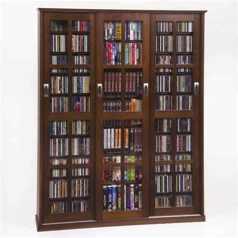 cd dvd storage cabinet leslie dame triple cd dvd wall rack media storage walnut