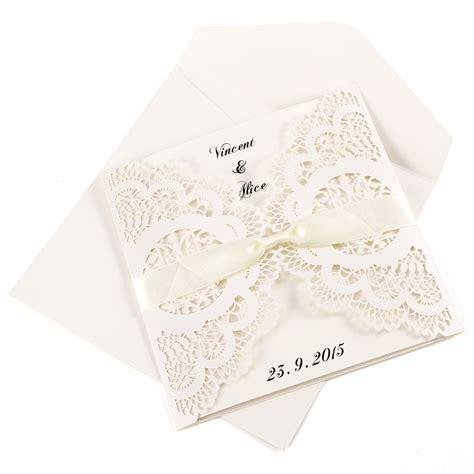 10x diy laser cut lace wedding invitations card envelope