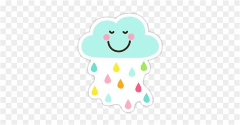 Cool Rain Drops Clip Art Cute Happy Cloud With Colorful
