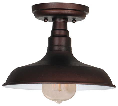farmhouse flush mount lighting kimball 1 light semi flush ceiling mount galvanized