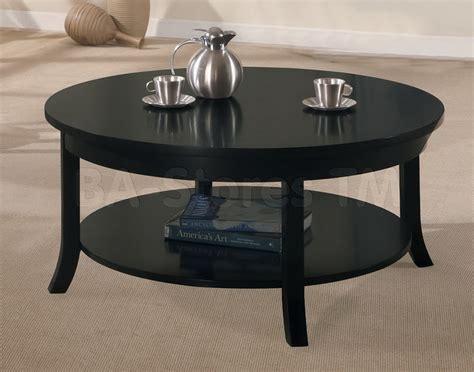 Uncategorized Round Black Coffee Table For Elegant Coffee
