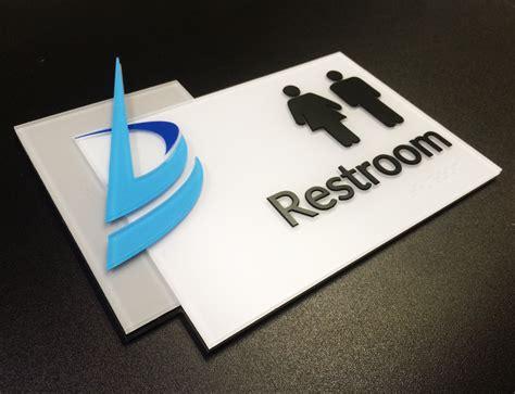custom restroom signs idf pensign