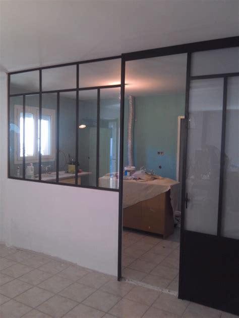 portes coulissantes cuisine verriere fer forg 233 de cuisine avec porte coulissante