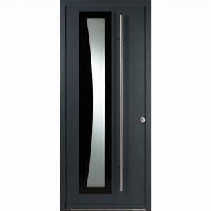 porte entree composite modele lynx a 1 vantail ouvrant a With porte entrée composite