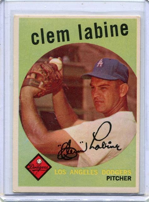 Look up the value of your baseball cards using this handy tool. Details about 1959 Topps Baseball Card Clem Labine Pitcher ...
