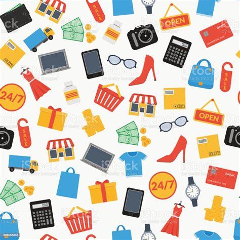 shop seamless background stock vector art